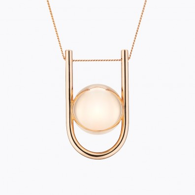 U Maternity Necklace Rose Gold Plated