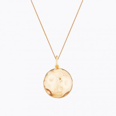 MOON Maternity Necklace Yellow Gold Plated