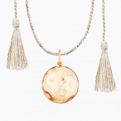 MOON Maternity Necklace on Silk