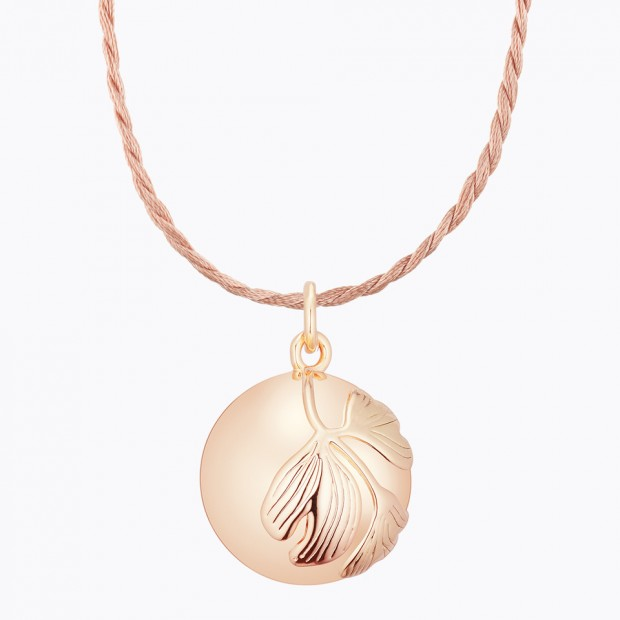 GINKGO Pregnancy Necklace Pink Gold